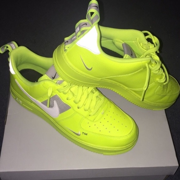 nike air force one lime green official